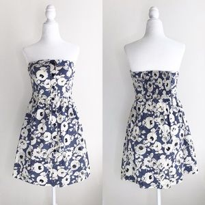 UO Cooperative Blue Floral Fit and Flare Dress M
